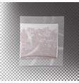 realistic tea bag teabag square shape vector image