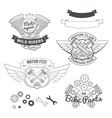 Set of biker vintage labels oldschool motor logo vector image