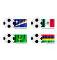 Soccer Ball of Marshall Islands Mexico Maurita vector image