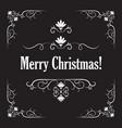 stylish merry christmas card vector image