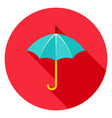 umbrella circle icon vector image