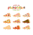 Stock of pizza slices vector image
