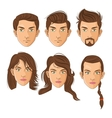 man and hair style design vector image