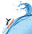 Penguin Surf vector image