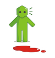 Hexagon Man - I Found Blood Spots vector image vector image