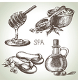 Spa sketch icon set vector image vector image