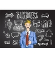 business sketch vector image