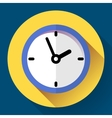 Clock icon flat design with vector image