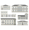 Set of detailed historical building facades vector image vector image
