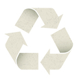 reuse symbol recycled paper texture vector image vector image