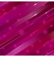 abstract linear background with flowers for design vector image