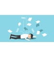 business man bankrupt by taxes vector image