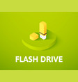 flash drive isometric icon isolated on color vector image