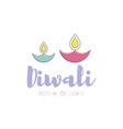happy diwali text design vector image
