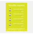 Noodles restaurant menu vector image