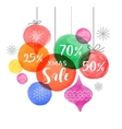Christmas backgound Christmas Sale poster vector image vector image