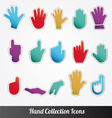 Human Hand collection icon set vector image