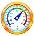 Dial Thermometer vector image
