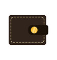 cute wallet to save money vector image
