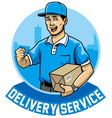 courier man service vector image vector image