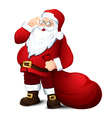 Isolated Santa Claus vector image