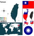 Taiwan map world vector image