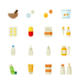 Pharmacy and Medical Icons vector image vector image