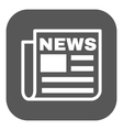 The news icon Newspaper symbol Flat vector image