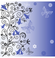 floral curl background vector image vector image
