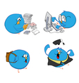 blue bird students vector image vector image