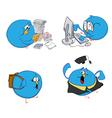 blue bird students vector image