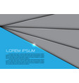abstract gray overlap blue design modern future vector image