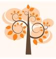 autumn tree icon vector image