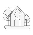 barn house or home icon image vector image