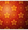 Chinese flower pattern background vector image