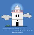 kangaroo island - australia lighthouse vector image