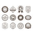 set of black and white badges stickers vector image
