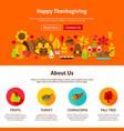 web design happy thanksgiving vector image