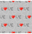 gray pattern hearts and love vector image vector image