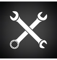 Crossed wrench icon vector image