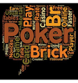 online poker game card 1 text background wordcloud vector image