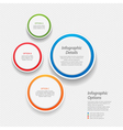 colourful infographic background vector image vector image