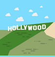 hollywood sign vector image