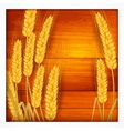 Ears of wheat on wooden vector image vector image