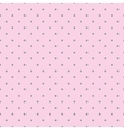 Tile pattern with grey polka dots pink background vector image vector image