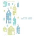 Houses blue green textile texture vertical vector image