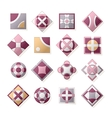 Icons and emblems vector image vector image