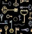 Seamless keys pattern vector image