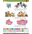 calculate game cartoon vector image vector image
