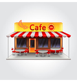 Cafe building isolated vector image